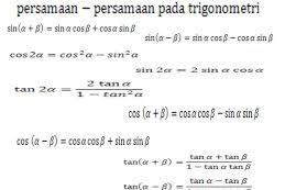 Kumpulan Rumus Rumus Matematika SMA Lengkap