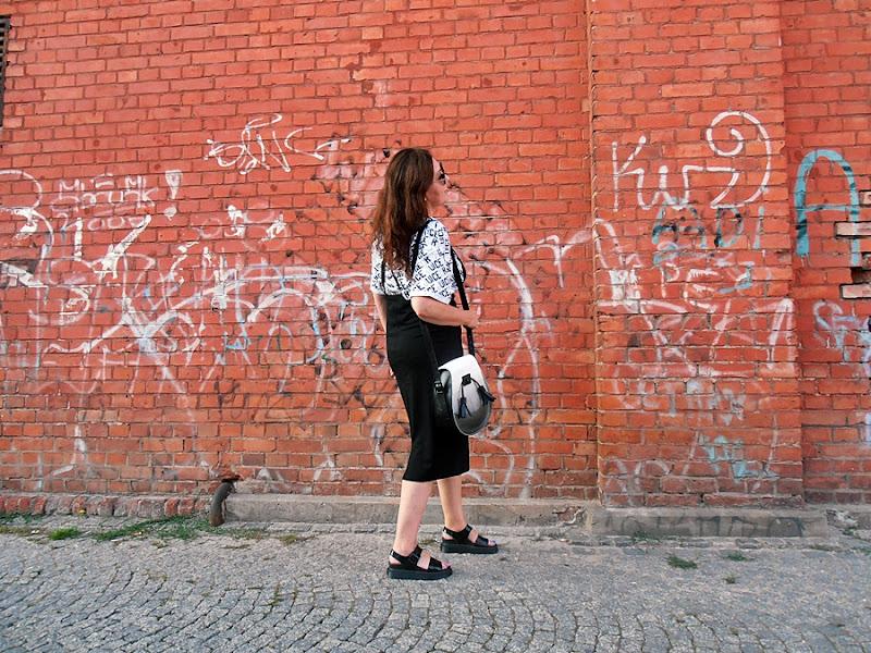 Torba Dr Martens i spódnica Asos/  Dr Martens bag  and Asos skirt