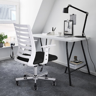 Greenforest Home Office Desk Chair Chrome Steel Base Black And White 45 99 Free Shipping