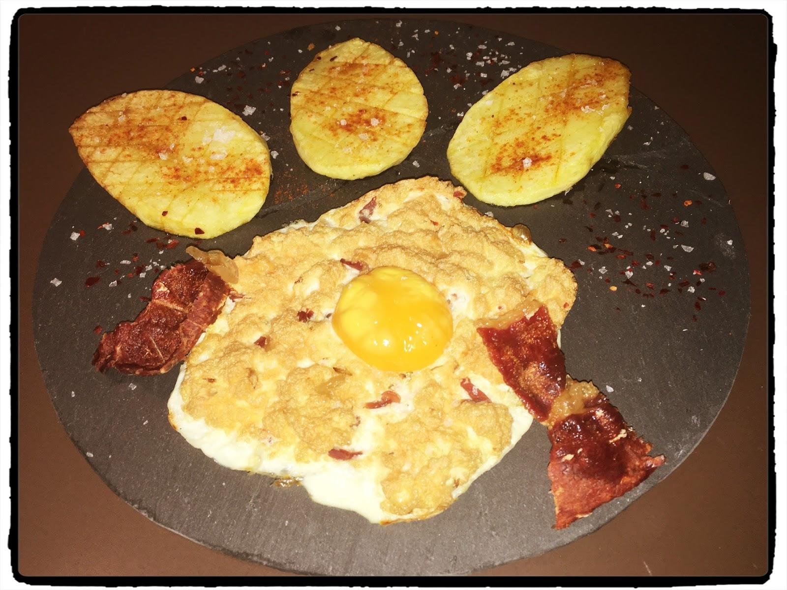 Cocina tu alegr a huevos fritos al horno con patatas y for Cocina con alegria