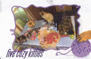 Handmade postcard of my friend Sheila's cats. Love it!