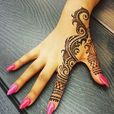 Contoh Gambar Henna di Tangan yang Mudah dan Simple - Contoh Gambar Henna