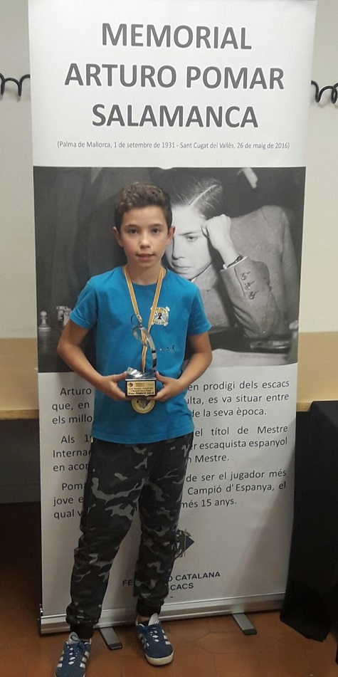 Jan Travesset Sagré, vencedor del II Memorial Arturo Pomar Salamanca 2017, Sub-12