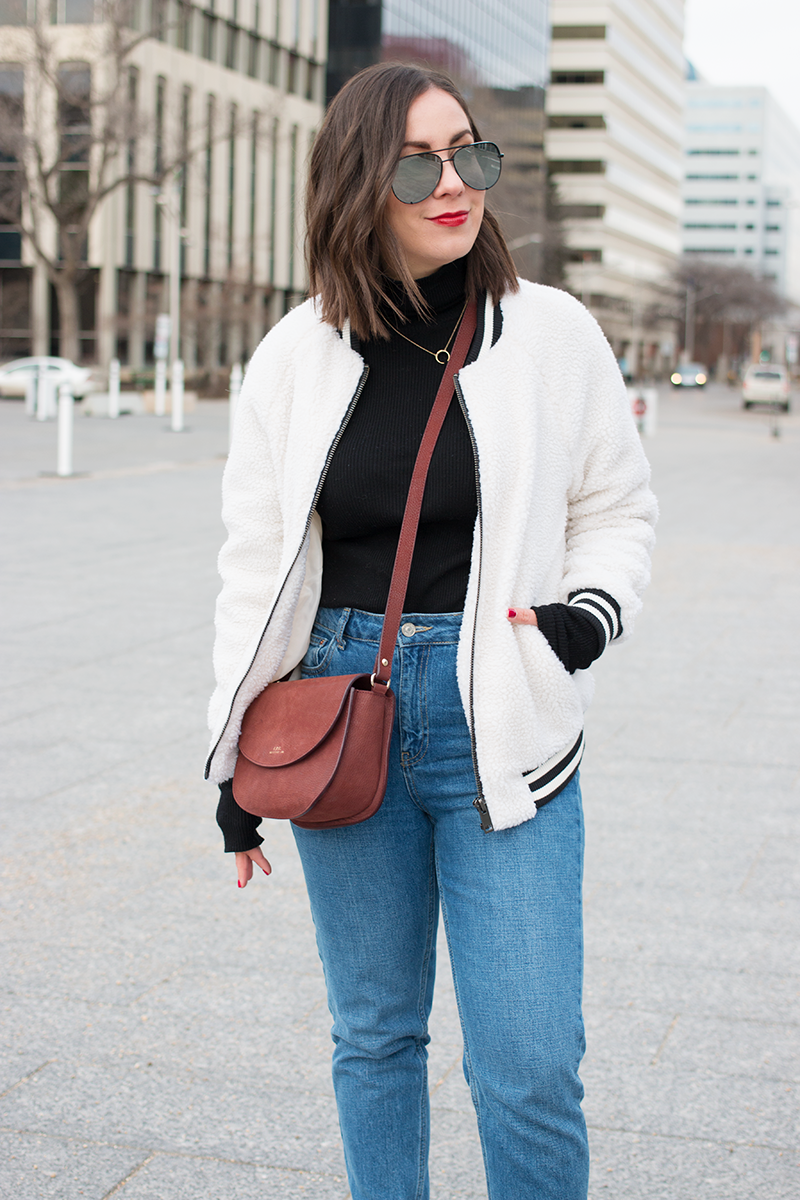 The Faux Shearling Bomber
