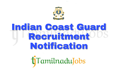 ICG Recruitment notification of 2018, government jobs for graduates