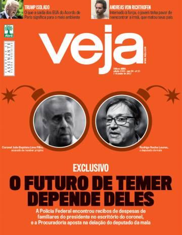 capa edicao 2533 - Revista Veja – Edição 2533 – 07.06.2017