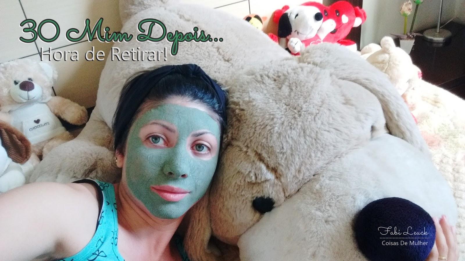 Mascara De Argila Verde Eliminando Oleosidade Coisas De Mulher