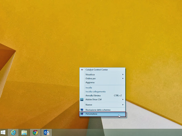 Personalizza - Windows 8.1