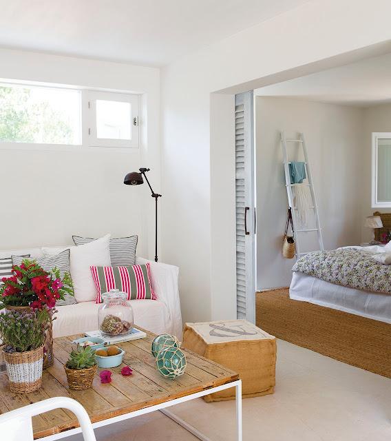 Apartament de 37 m² decorat pentru o vacanță de vis la mare