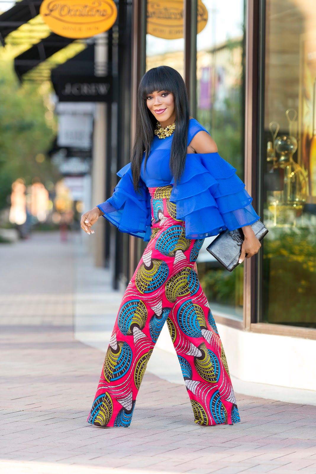 Image result for ankara layered trouser