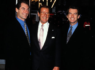 Timothy Dalton Roger Moore Pierce Brosnan James Bond gathering