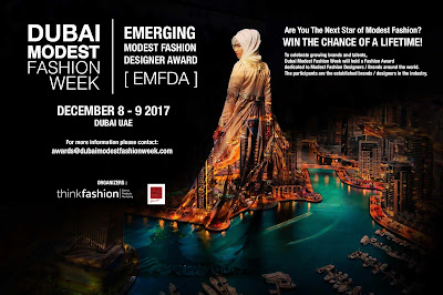 Source: DMFW website. Poster advertising the Emerging Modest Fashion Designer Award.