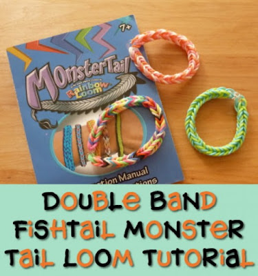 Double Fishtail Loom Band Tutorial for the Monster Tail Mini