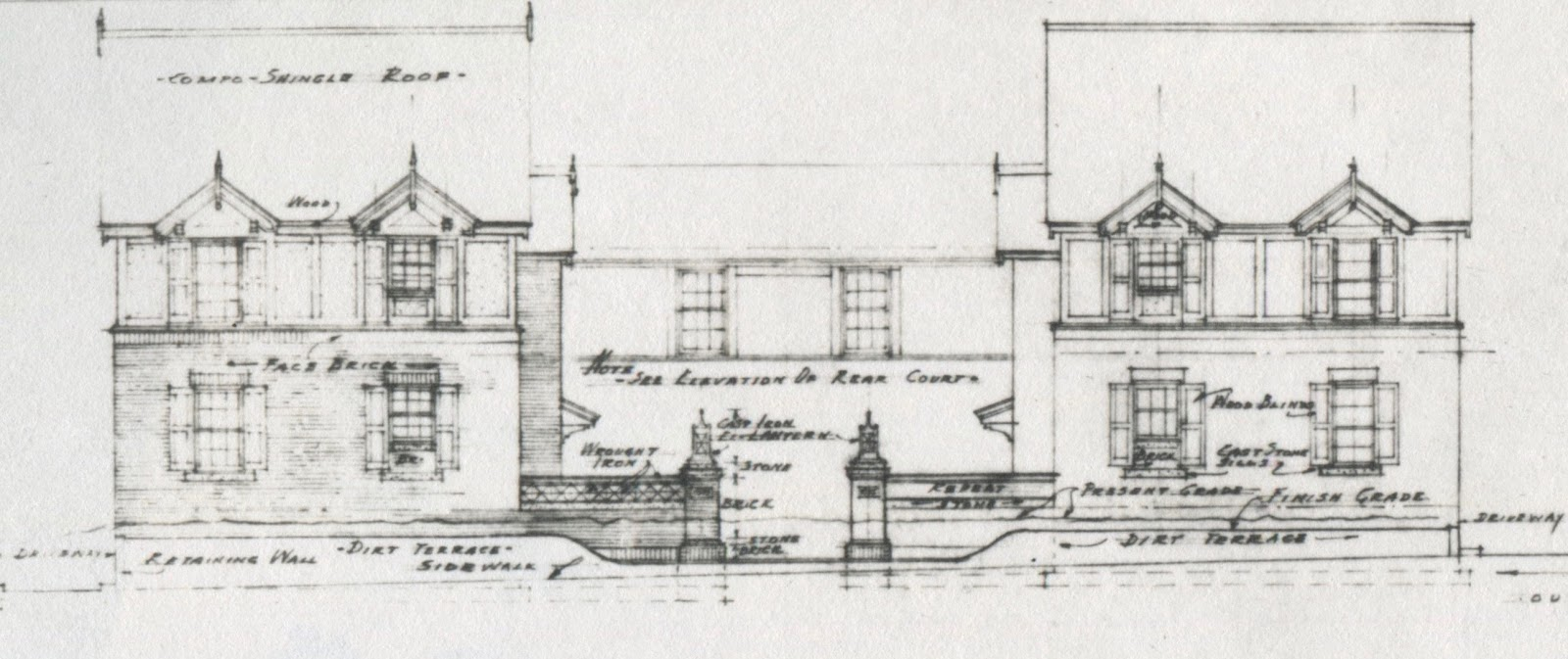 Crme de memph january 2017 this elevation shows the front facade of the two wings of the building along madison malvernweather Images