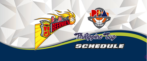 List of Games: San Miguel Beermen Complete Game Schedules 2016-2017 PBA Philippine Cup