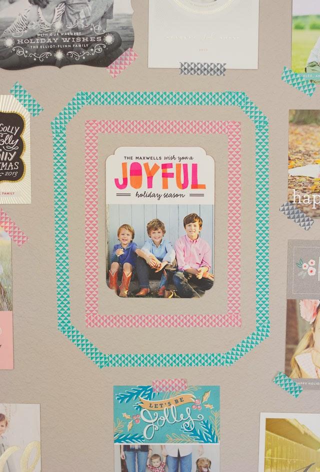 DIY Washi Tape Holiday Card Display | Design Improvised