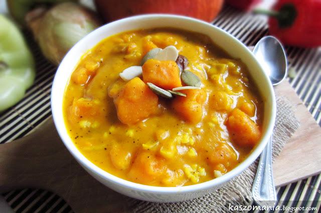 Kasza jaglana z dynią, mleczkiem kokosowym i curry