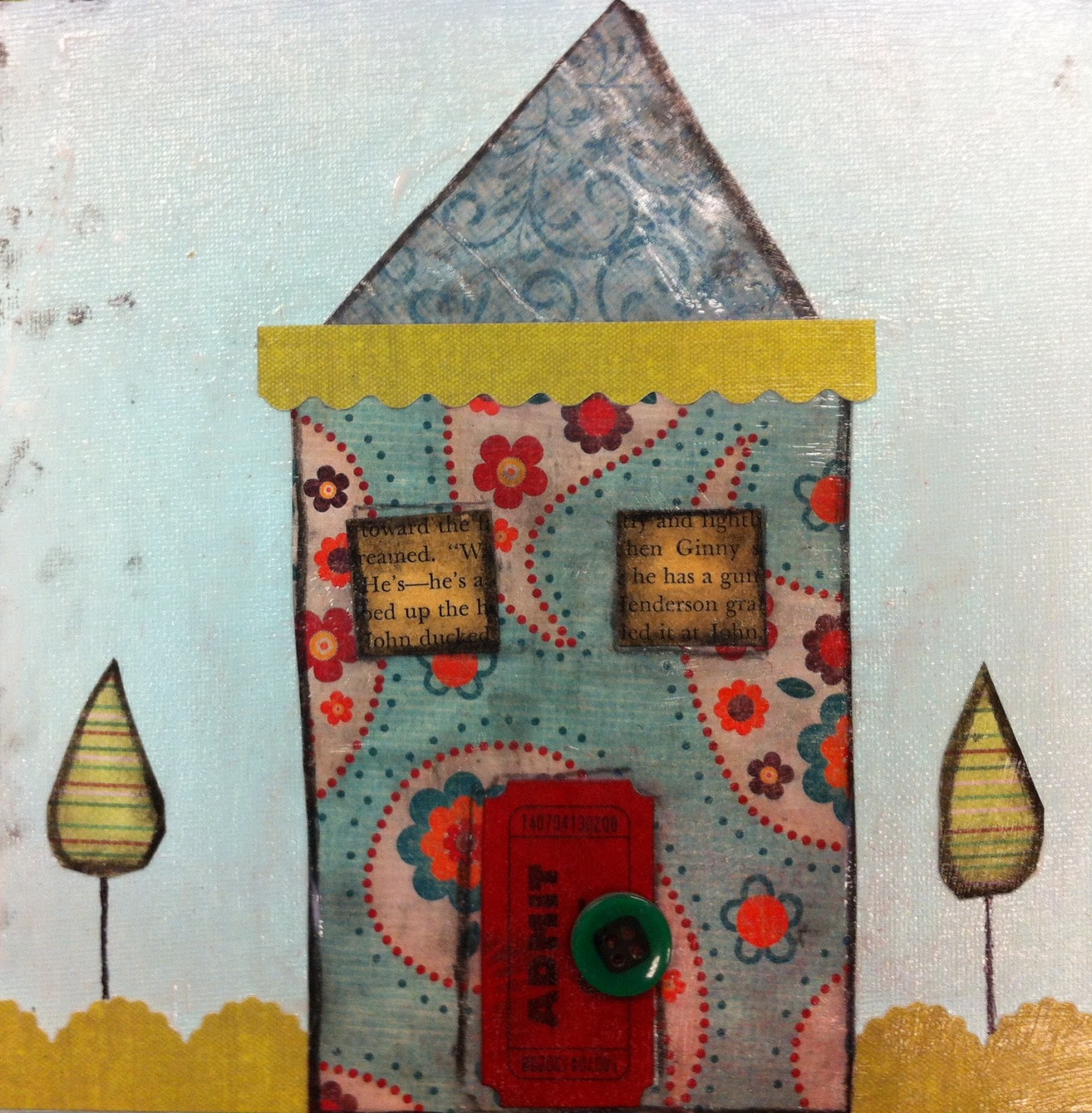 Angela Anderson Art Blog: Cute Houses Mixed Media Project ...