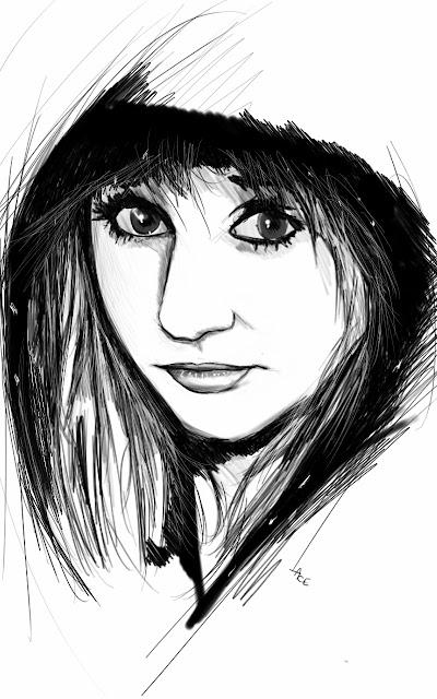 draw something art dessin portrait jeune fille. Black Bedroom Furniture Sets. Home Design Ideas