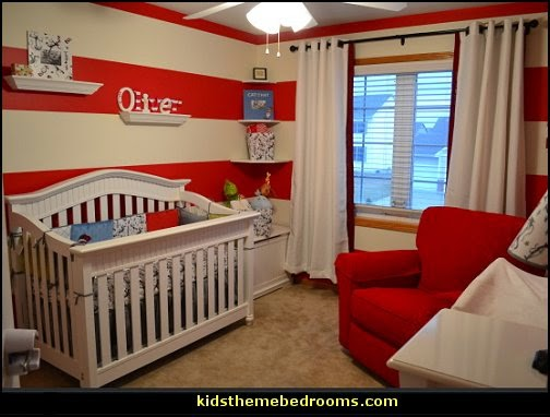 Dr. Seuss baby bedroom decorating ideas Cat in the Hat bedroom  Dr. Seuss Pennant Banner  Dr. Seuss Cat In The Hat Dr Seuss bedroom dr seuss wall decorations
