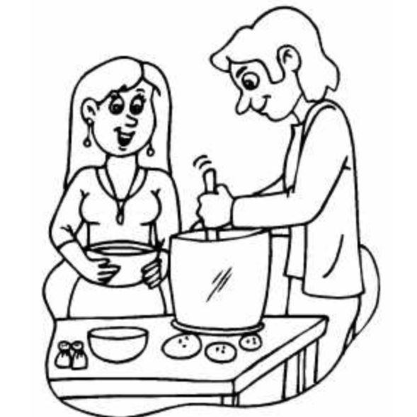 Gambar Mewarnai Di Dapur Wwwimagenesmicom