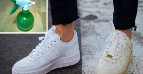 Use This Simple Trick To Clean Your Dirty White Shoes And Make Them White Again!
