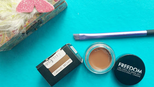 REVIEW : FREEDOM BROW POMADE in CARAMEL BROWN