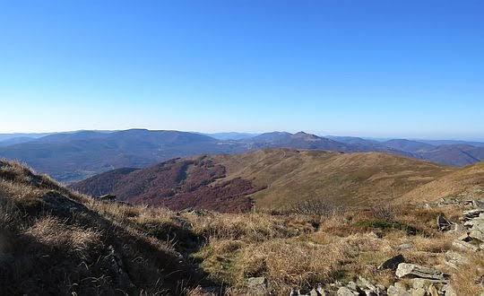 Widok na grzbiet Szerokiego Wierchu.