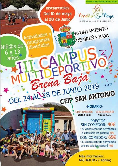 BREÑA BAJA: III Campus Multideportivo