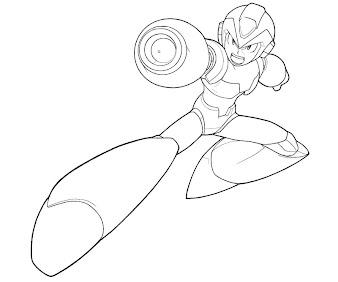 #13 Mega Man Coloring Page