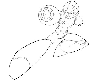 Megaman coloring pages ~ #13 Mega Man Coloring Page