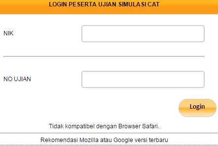 gambar menu login sc.menpan.go.id simulasi CAT online