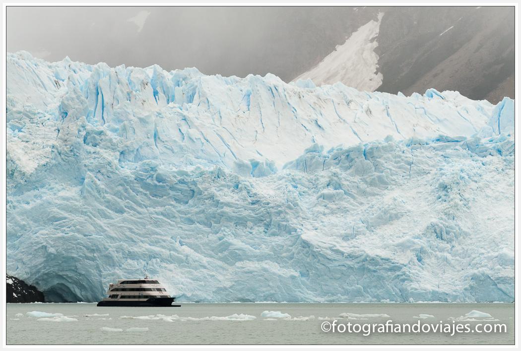 Glaciar Perito Spegazzini desde el barco