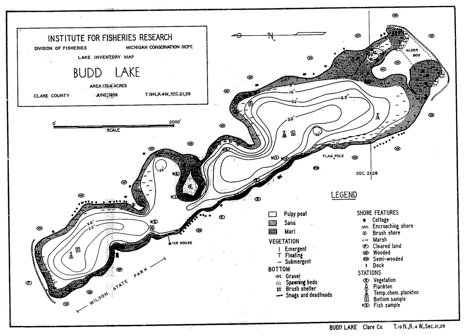 Houghton Lake Walleye Report Budd Lake