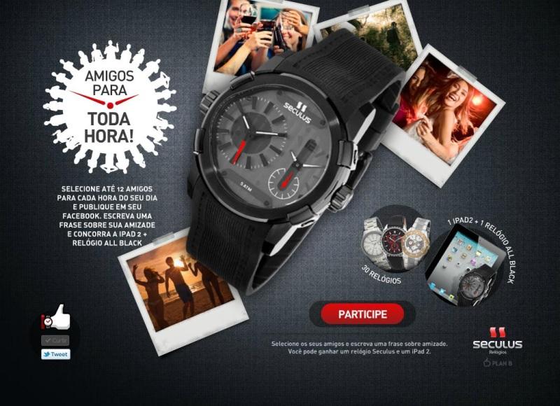 9f57f00f996 Relógios Seculus valorizam a amizade em promoção no Facebook