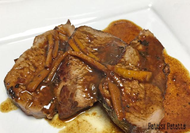 recette de filet mignon de porc, filet mignon de porc à l'orange, porc mariné à l'orange, porc sauce à l'orange, plat principal, cuisiner du porc, tout est bon dans le cochon, plat sucré-salé, viande à l'orange, patissi-patatta