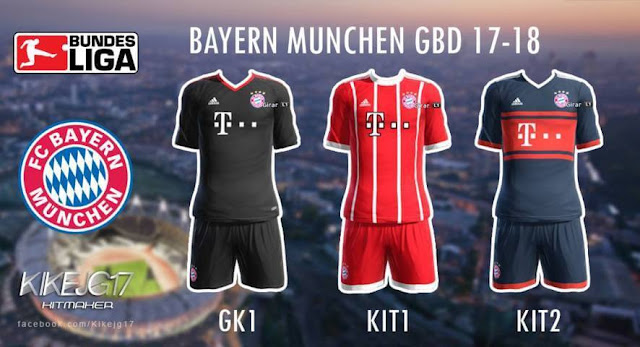 Bayern Munchen 2017-2018 Kit PES 2013