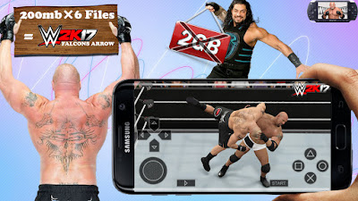 WWE-2K17 ppsspp Android compressed data Download | Hindi | KING