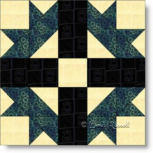 Mexican Star quilt block image © Wendy Russell
