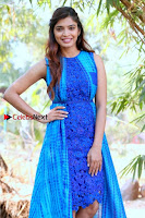 Tamil Actress Sanchita Shetty Latest Pos in Blue Dress at Yenda Thalaiyila Yenna Vekkala Audio Launch  0013.jpg