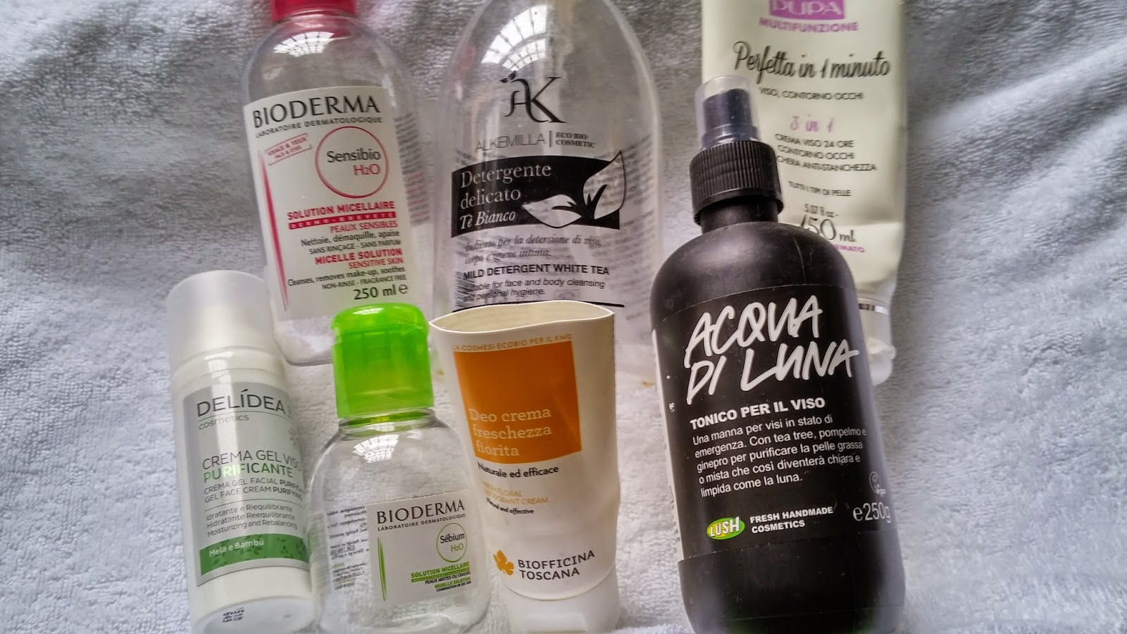 Ended products - lush, biofficina toscana, delidea, bioderma, pupa, alkemilla