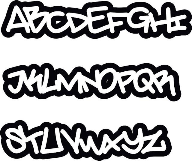 Graffiti ABC, graffiti letters a-z, graffiti font