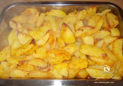 Preparare cartofi aurii la cuptor-etapa 3
