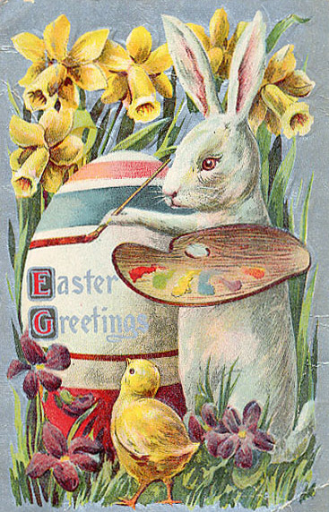 Vintage Bunny Easter Graphic- From My Front Porch To Yours