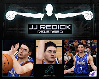 NBA 2K13 J.J. Redick Cyber Face Update