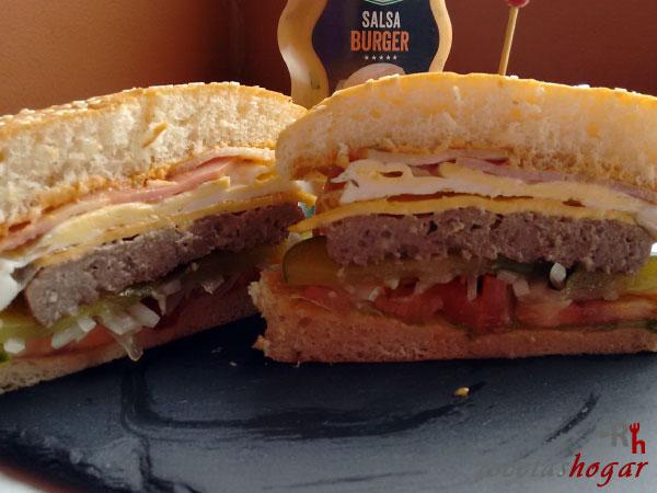 Receta de la hamburguesa casera