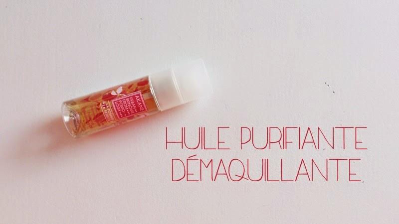 huile purifiante demaquillante akane pomme bio