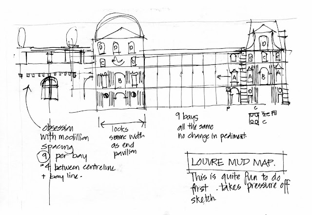 Sketching Architecture: Complex buildings are fun  The Louvre
