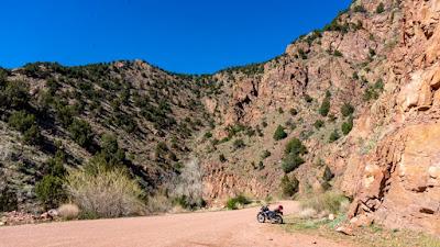 Riding Yagi on Phantom Canyon Road