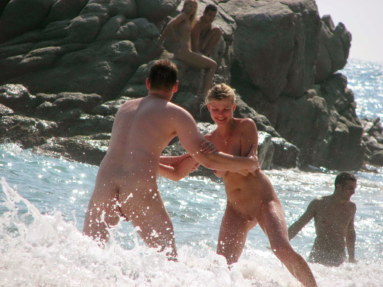 nudist women having fun